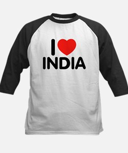 I Love India Kids Baseball Jersey