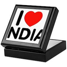 I Love India Keepsake Box