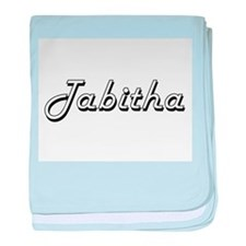 Tabitha Classic Retro Name Design baby blanket