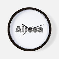 Alissa Wolf Wall Clock