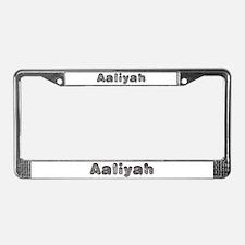 Aaliyah Wolf License Plate Frame