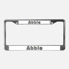 Abbie Wolf License Plate Frame