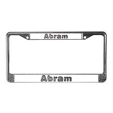 Abram Wolf License Plate Frame
