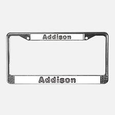 Addison Wolf License Plate Frame