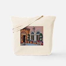 Flower Courtyard Tote Bag