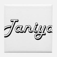 Taniya Classic Retro Name Design Tile Coaster