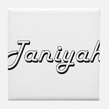 Taniyah Classic Retro Name Design Tile Coaster