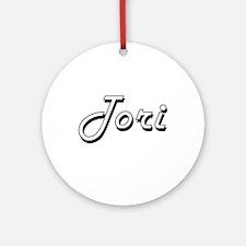 Tori Classic Retro Name Design Ornament (Round)