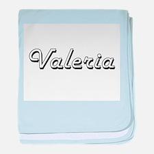 Valeria Classic Retro Name Design baby blanket