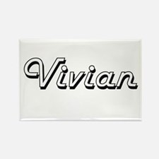 Vivian Classic Retro Name Design Magnets