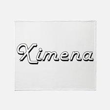Ximena Classic Retro Name Design Throw Blanket