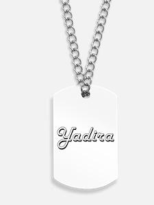 Yadira Classic Retro Name Design Dog Tags