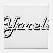 Yareli Classic Retro Name Design Tile Coaster