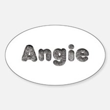 Angie Wolf Oval Decal