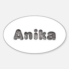 Anika Wolf Oval Decal