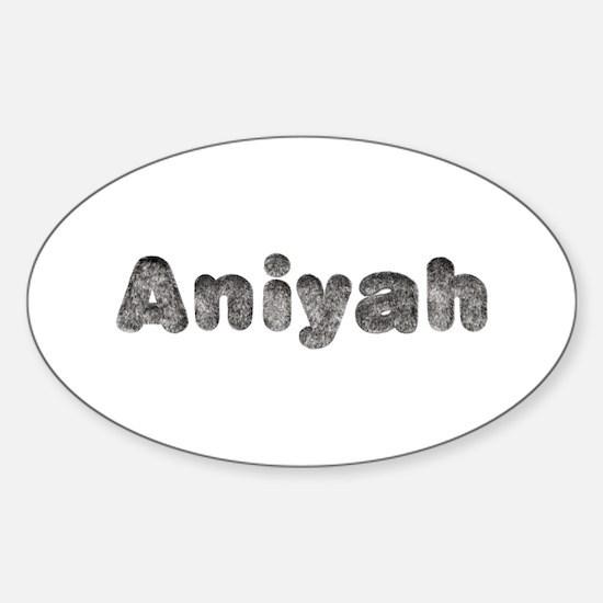 Aniyah Wolf Oval Decal