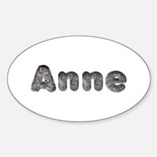 Anne Wolf Oval Decal