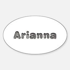 Arianna Wolf Oval Decal