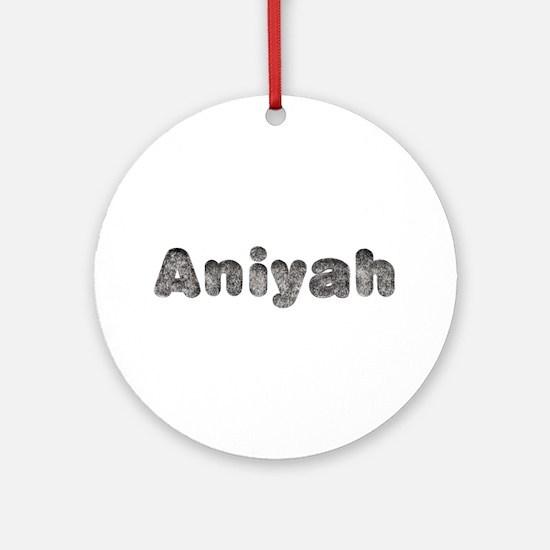 Aniyah Wolf Round Ornament