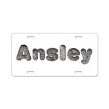 Ansley Wolf Aluminum License Plate