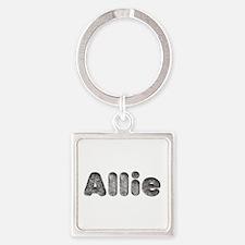 Allie Wolf Square Keychain