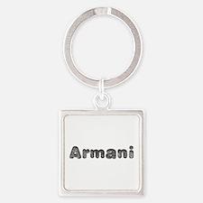 Armani Wolf Square Keychain