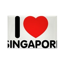I Love Singapore Rectangle Magnet