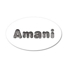 Amani Wolf 35x21 Oval Wall Decal