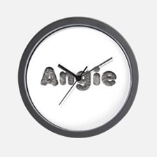 Angie Wolf Wall Clock