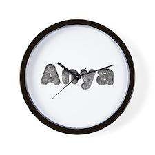 Anya Wolf Wall Clock