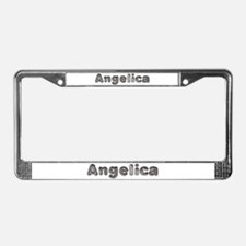 Angelica Wolf License Plate Frame