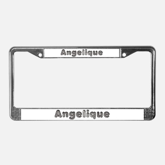 Angelique Wolf License Plate Frame