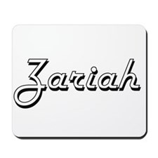 Zariah Classic Retro Name Design Mousepad