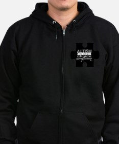 Autism is not a Choice, Acceptan Zip Hoodie