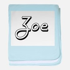 Zoe Classic Retro Name Design baby blanket