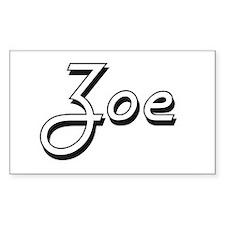 Zoe Classic Retro Name Design Decal