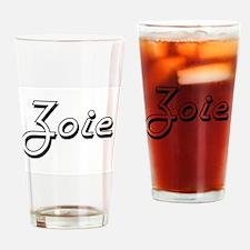 Zoie Classic Retro Name Design Drinking Glass