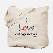 I love Cytogenetics Chromosome Letters Tote Bag