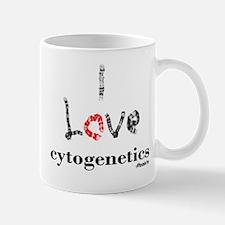 I love Cytogenetics Chromosome Letters Mug