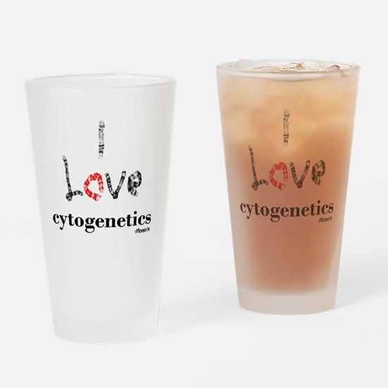 I love Cytogenetics Chromosome Lett Drinking Glass