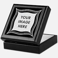 CUSTOM Photo Frame Black Keepsake Box