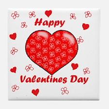 Unique Happy valentine day Tile Coaster
