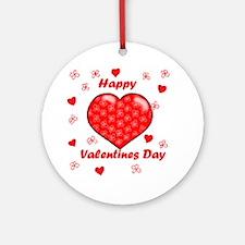 Cute Happy valentines day Round Ornament