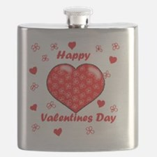 Cute Valentines day Flask