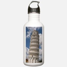 Funny Leaning tower pisa Water Bottle