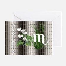 Bamboo and Lily Scorpio Greeting Card