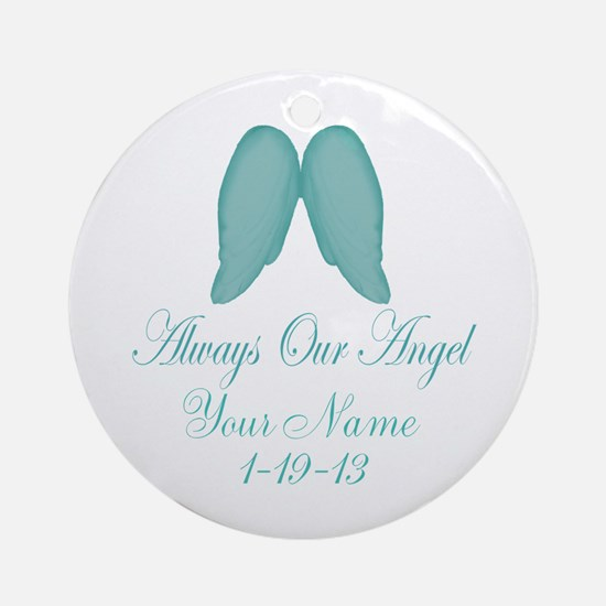 Always Our Angel Blue Ornament (Round)