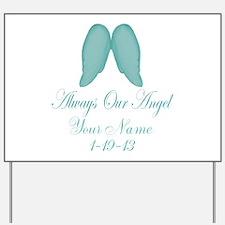 Always Our Angel Blue Yard Sign
