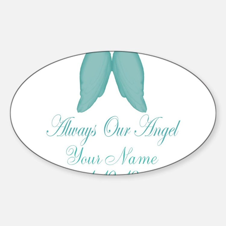 Always Our Angel Blue Stickers