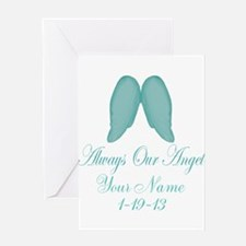 Always Our Angel Blue Greeting Cards